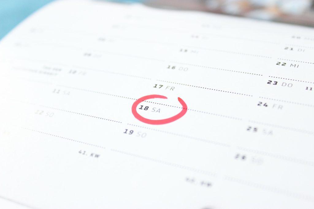 menštruačný kalendár